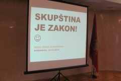Okrugli sto: Da li nam je potreban Zakon o Skupštini? / Round table: Do we need a Law on Parliament?